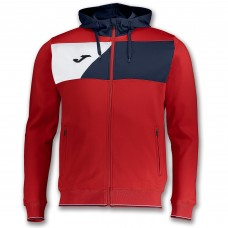 CREW II HOODED FZ POLY JACKET (RED-NAVY-WHITE)